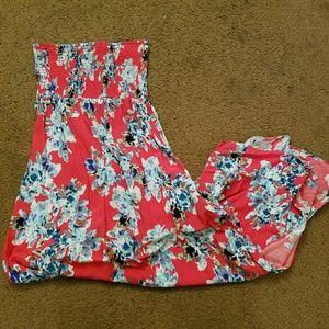 Xhilaration Strapless Maxi Dress
